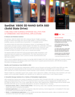 SanDisk® X600 3D NAND SATA SSD Data Sheet