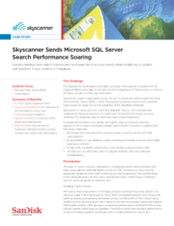 SkyScanner Send Microsoft SQL Server Search Performance Soaring