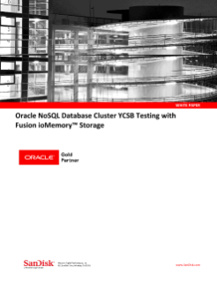 Oracle NoSQL Database Cluster YCSB Testing with Fusion ioMemory Storage